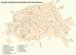 Plano turístico Moral de Calatrava